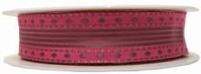 r18 Ruban laitonné marron sur rose