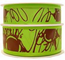 Ruban vert avec filets de chocolat