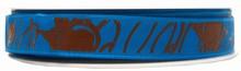 Ruban bleu avec filets de chocolat