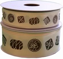 Ruban taffetas avec truffes chocolat