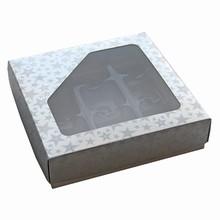 CCS206 Boîte carré rayures argent 1/2lb