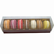 Burgundy Coloured Macaron 7ct Box