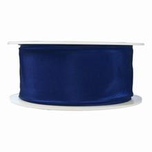 r420 Ruban bleu marine uni