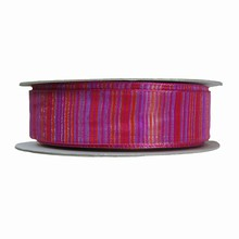 r270 Magenta and Red Pin Striped Ribbon