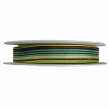 r1180 Ruban à rayures marron, bleu et vert