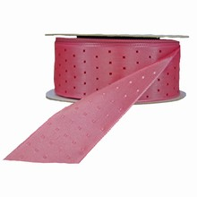 r728 Pink reversible with fuchsia squares ribbon