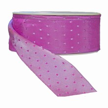 r731 Magenta reversible with lilac squares ribbon