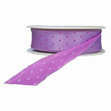 r732 Lilac reversible with magenta squares ribbon