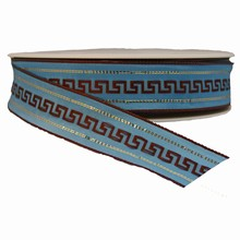 r289 Brown Hellenic Pattern on Baby Blue