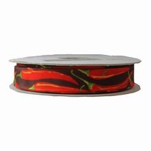 Ruban taffetas pimentos 25mm