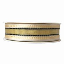 r430 Ruban embossé crème