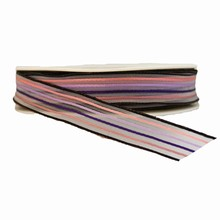 r664 Black and Purple Sheer Striped Ribbon