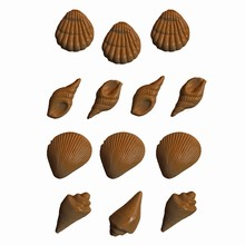 A87 Moule coquillages assortis
