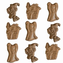 H14 Haunted House, Witch and Ghost Halloween Mold