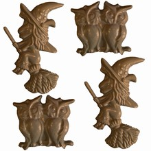 H18 Witch and Owls Mold