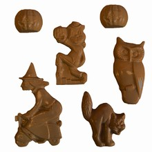 H19 Assorted Halloween Characters Mold