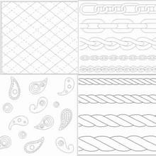 Tapis d'empreintes imprimés assortis