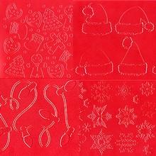Tapis d'empreintes Noël assortis