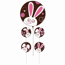 Silly Bunny Lollipop Transfer Sheets