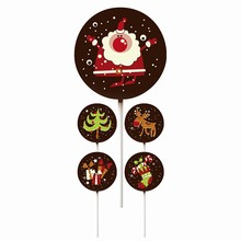 Christmas Themed Santa Lollipop Transfer Sheets