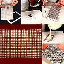 YY0105 Plasti-Relief Sheet Mold Plaid Print