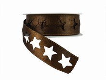 r362 Shimmery Brown Star Ribbon
