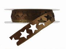 r361 Shimmery Brown Star Ribbon