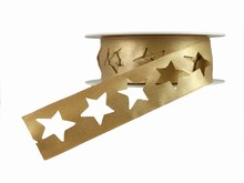 r359 Shimmery Gold Star Ribbon
