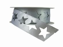 r350 Shimmery Silver Star Ribbon