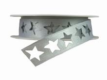 r349 Shimmery Silver Star Ribbon