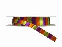 r434 Mardi Gras Checkered Ribbon