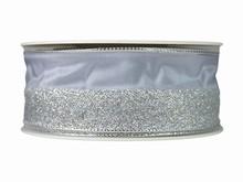r523 Silver Half-Sparkly Ribbon
