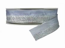 r521 Silver Half-Sparkly Ribbon