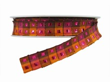 r488 Pink and Orange Plaid Ribbon