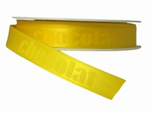 r282 Ruban monochrome jaune 'chocolat'
