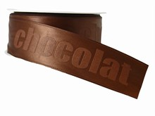 r281 Ruban monochrome marron 'chocolat'