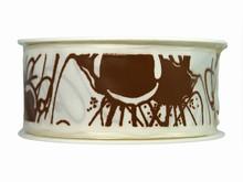 r375 Ruban blanc avec filets de chocolat