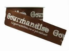 r273 Ruban 'Gourmandise' marron