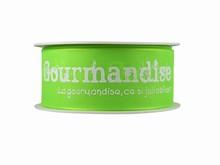 r266 Ruban 'Gourmandise' vert lime