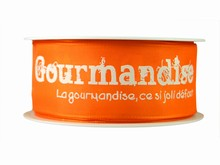 r265 Ruban 'Gourmandise' orange