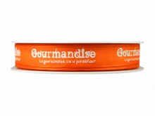 r263 Ruban 'Gourmandise' orange