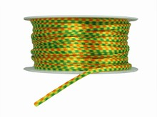 r255 Ruban cordelette jaune, orange et vert