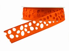 r686 Orange Laser Egg Cutout Ribbon