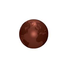 ART16534 Moule double globe terrestre