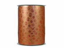r970 Bolduc Curling Ribbon Bronze and Metallic Snowflakes