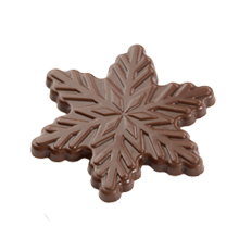 b276 MLD090537 Snowflake Chocolate Mold 2in