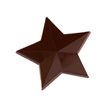 b278 MLD090548 Moule chocolat étoile 30mm