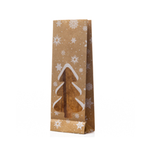 9741 Sachet papier kraft avec fenêtre sapin de Noël