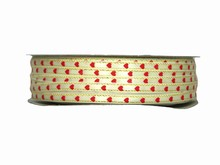 VA40 Valentine's Day Cream Satin Ribbon