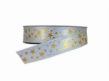 NO22 Sparkly Silver and Gold Star Ribbon